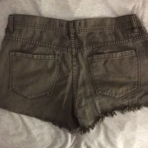 Free People Shorts - Free people buttonfly shorts